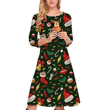 cd4bfb8d48087 cureture ❤ ❤ Women's Casual Dress Christmas Dress Women Xmas ...
