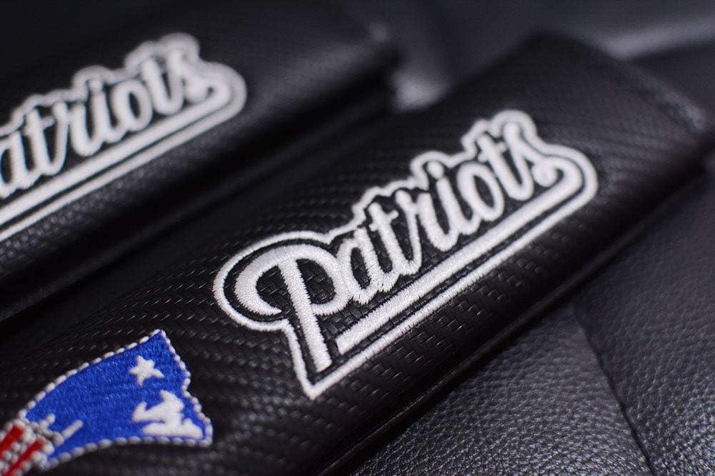 2Pcs Fit for Kansas City Chiefs Seat Belt Covers Shoulder Pads,Black Carbon Fiber Embroidered Leather Seat Safety Belt Covers Shoulder Pads for All Car TTHT