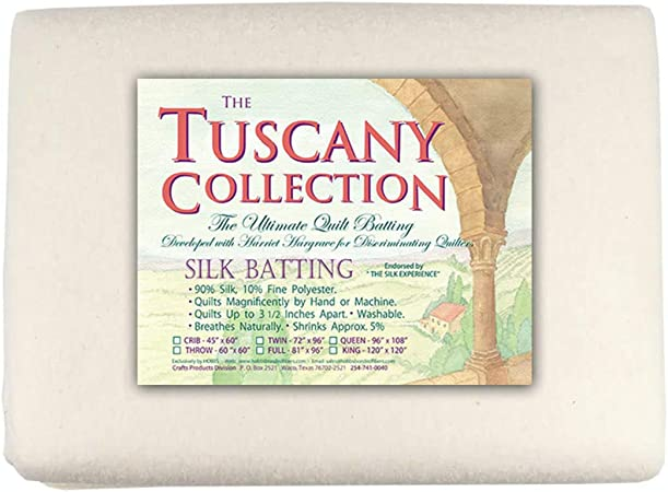 Hobbs Batting Tuscany Silk Polyester Blend x 60in Throw 60 x 60