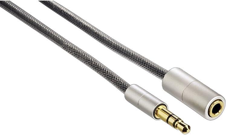 Hama Verlängerungskabel Aluline Klinke 3 5 Mm Stecker Kupplung Stereo 2 M Audio Hifi