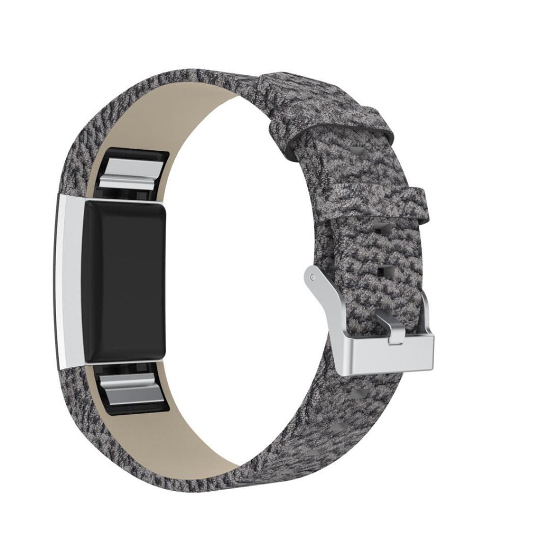 レザーバンドfor Fitbit Charge 2、sukeq最新ラグジュアリーレザーLeopard Printedリストバンドブレスレット交換用ストラップfor Fitbit Charge 2クイックリリース  Multicolor A B07B1WDTFB