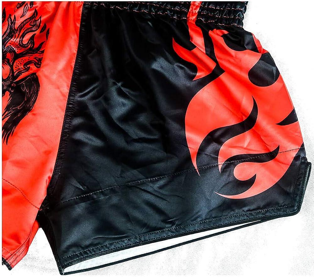 hochwertige MMA Gym Boxen Kickboxen Shorts HUOLEI Muay Thai Shorts f/ür M/änner und Frauen