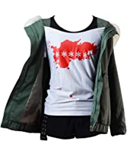 Ya-cos Persona 5 Futaba Sakura Cosplay Costume A.F.K Logo Casual Coat Jacket Shirt Tee Suit Dress Up