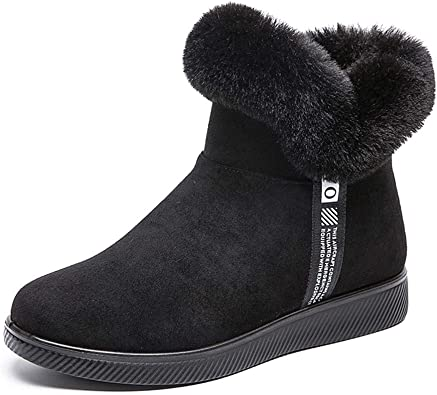 Womens Faux Ankle Boot Warm Fur Lined