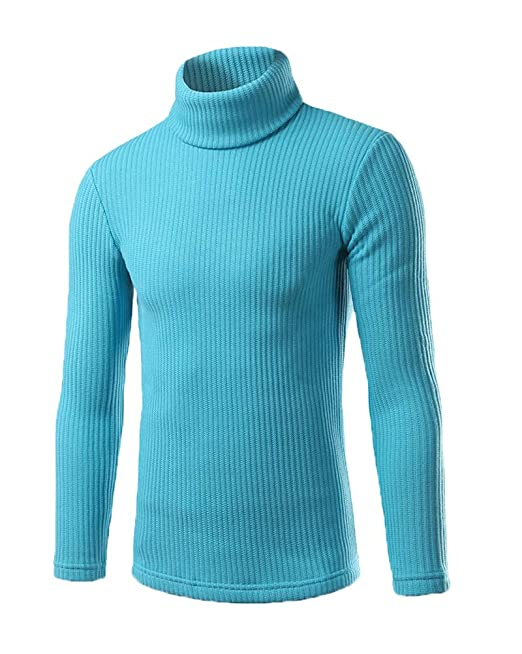 75eac964389fb6 Maglione da Uomo Maglia Manica Lunga Solido Colore Dolcevita Collo Alto  Maglia: Amazon.it: Abbigliamento