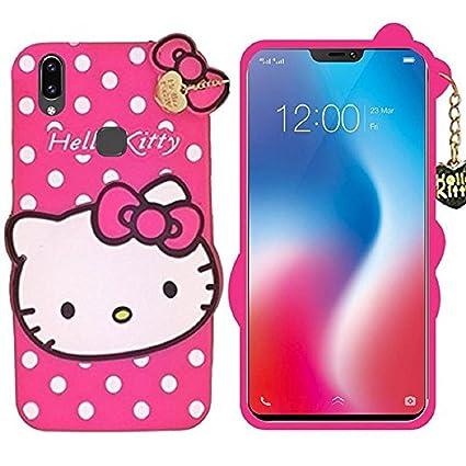 size 40 f0e08 c1756 Mobiclonics Cute Cartoon Hello Kitty Back Cover for Vivo V9/V9 Youth(Pink)