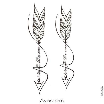 Avastore - Tatuaje temporal, motivo: flecha: Amazon.es: Belleza