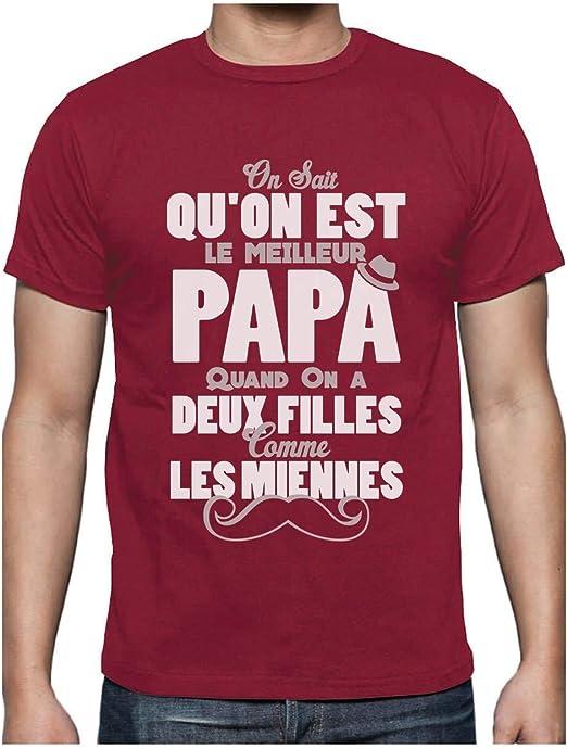 Green Turtle T Shirts Papa Avec Deux Filles Comme Les Miennes T Shirt Homme Amazon Fr Vetements Et Accessoires