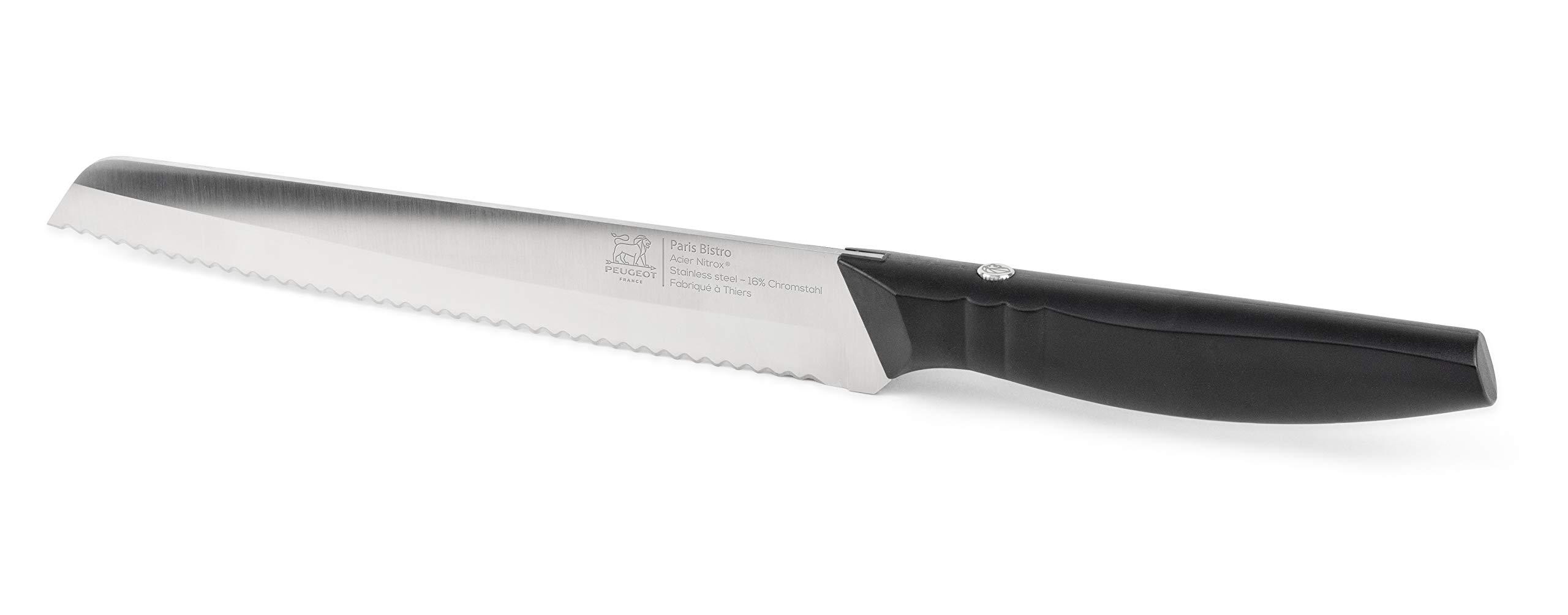 Peugeot 50085 Paris Bistro, Bread Knife, 20cm / 8-inch Black