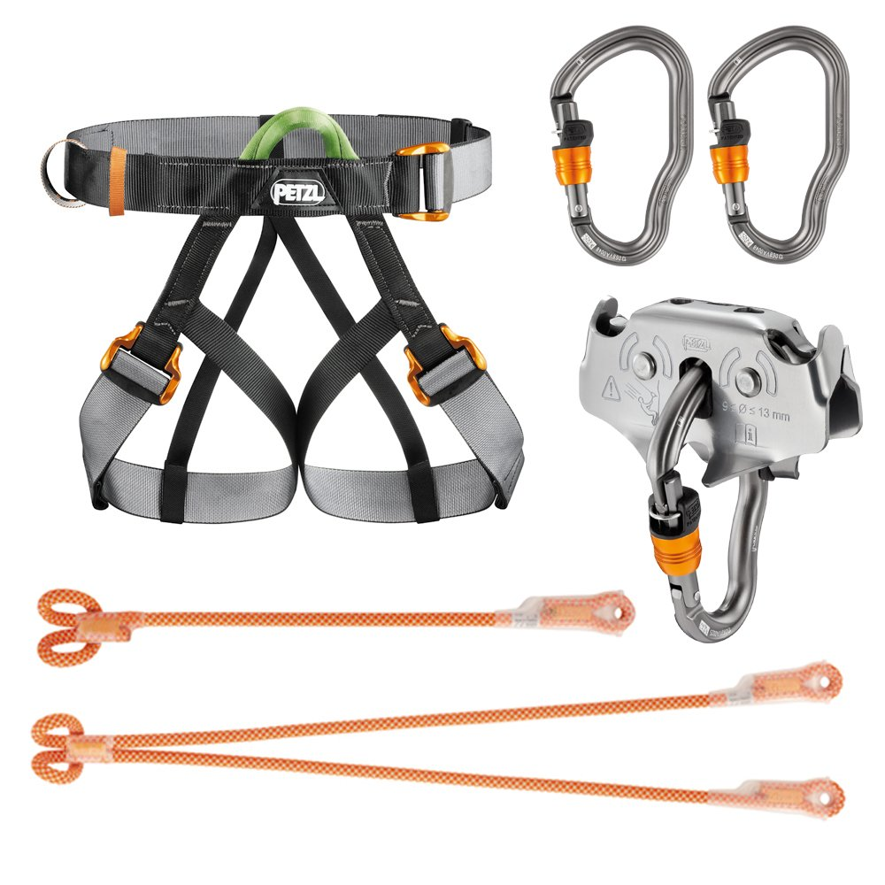 amazon com professional zipline harness system sys1 climbing