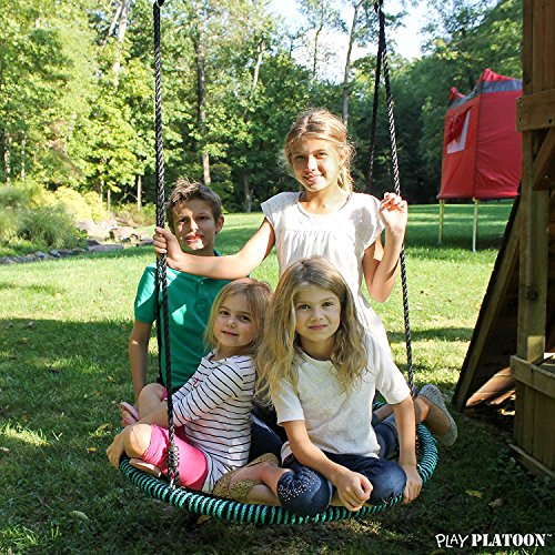 Spider Web Tree Swing - 40 Inch Diameter, 600 lb Weight Capacity, Fully Assembled, Easy to Install