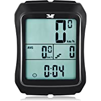 Y&S Bike Computer Speedometer with Cadence Sensor & Speed Sensor-Wireless Waterproof Bicycle Odometer with Large LCD Display for Pedal Cadence Speed Tracking Multi-Function