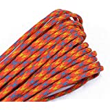 BoredParacord - Over 300 Colors 1', 10', 25', 50', 100' Hanks & 250', 1000' Spools of Parachute 550 Cord Type III 7 Strand Paracord
