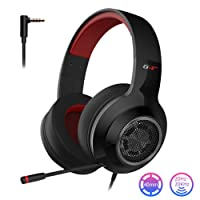 EDIFIER G4 SE Gaming Headset for PS4, PC, Xbox One Controller,Noise Cancelling Over Ear Headphones with Mic,Stereo Bass Surround, Soft Memory Earmuffs for Laptop Mac Nintendo Switch PS3 Games