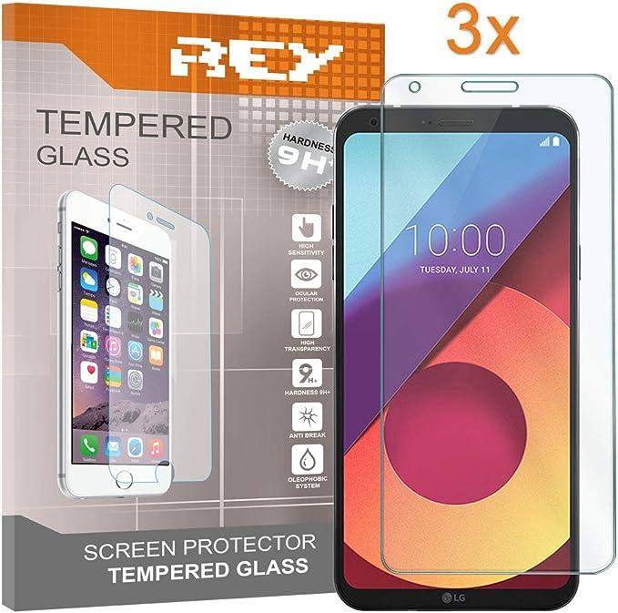 REY 3X Protector de Pantalla para LG Q6 / Q6 Alpha / Q6 Plus ...