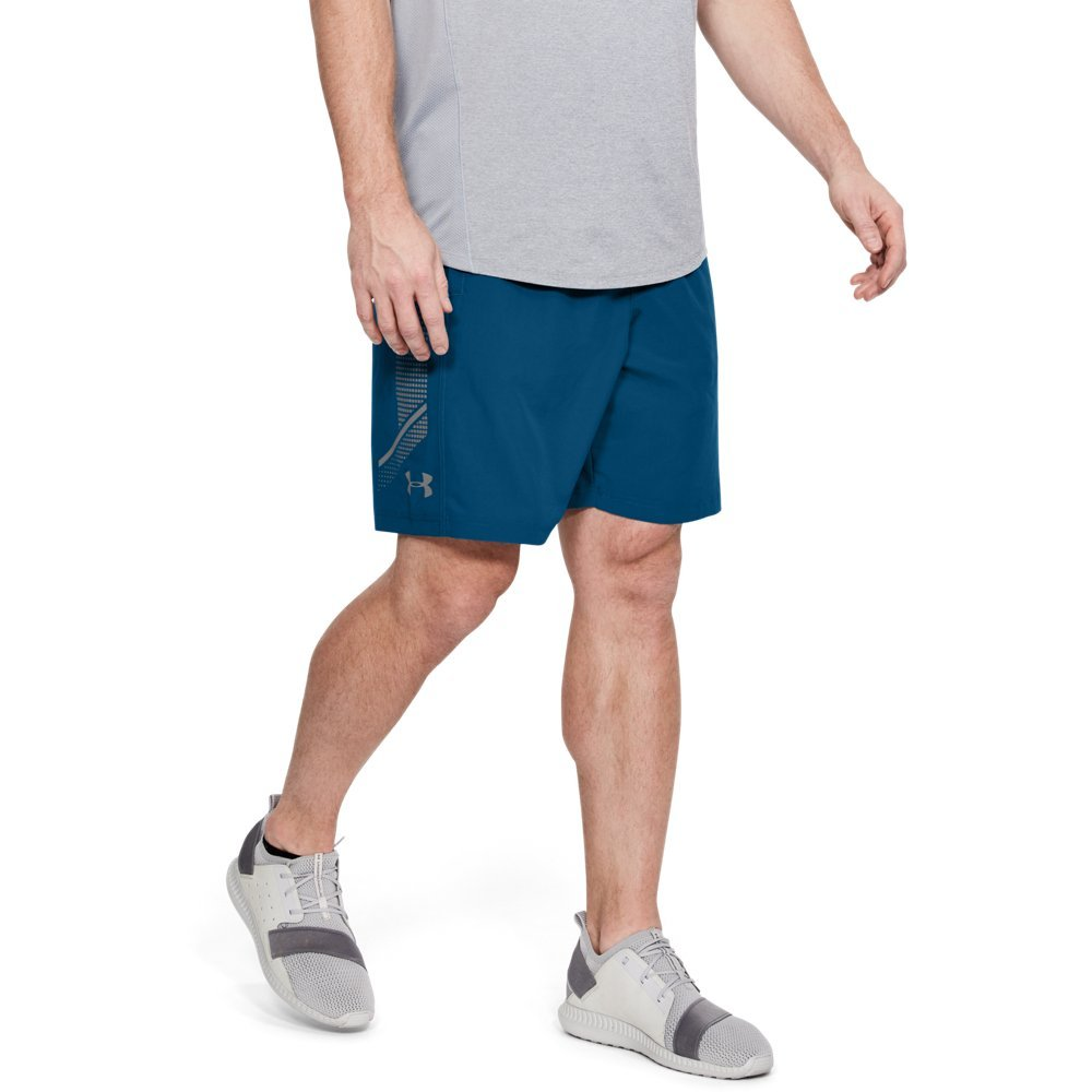 Under Armour Men's Woven Graphic Shorts, Moroccan Blue (487)/Graphite, X-Large by Under Armour