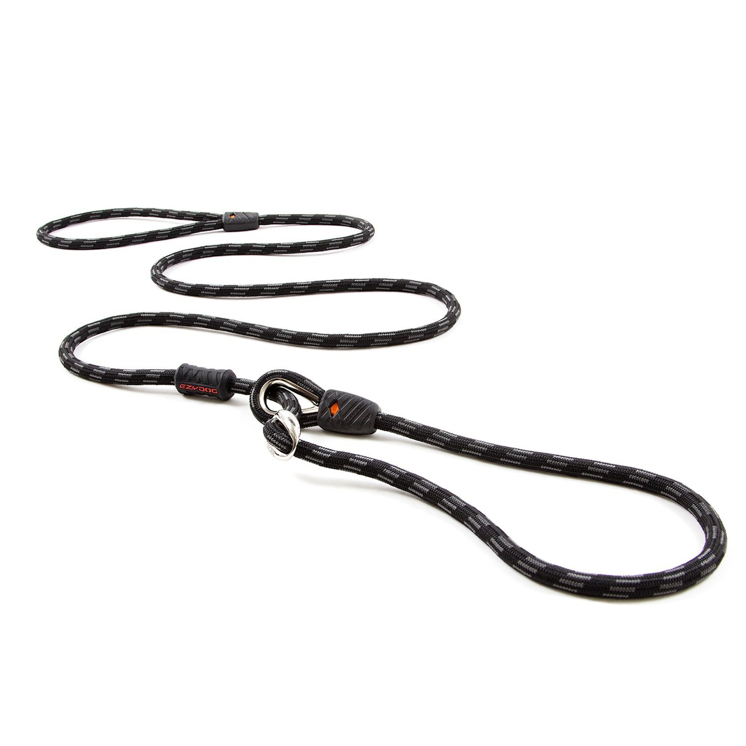 Black Standard Black Standard EzyDog Luca All-in-One Slip Collar Climbing Rope Dog Leash Combo Best Dog Lead for Control, Training, Correction, and Exercising Perfect for Medium and Large Dogs (Standard, Black)