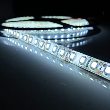 Amazon cmc led light strip lamp white waterproof strip indoor cmc led light strip lamp white waterproof strip indoor outdoor led strip lights 164ft 5m aloadofball Image collections