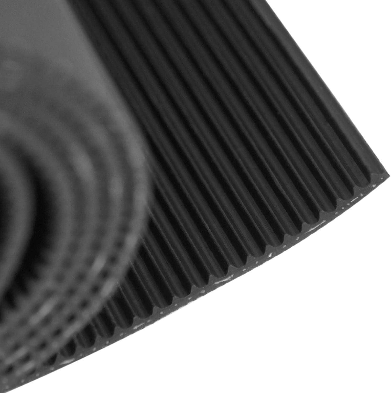 Feinriefenmatte mit Gewebeeinlage St/ärke: 3mm Gr/ö/ße w/ählbar 5m/² 1,0 x 5,0m Farbe: Schwarz