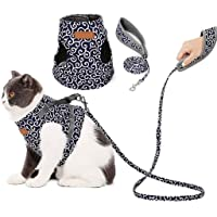Cat Vest Harness and Leash Set to Outdoor Walking,Escape Proof with 47 Inches Leash,Adjustable Soft Vest Harnesses,Cat…