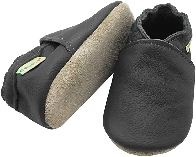 Sayoyo Lowest Best Baby Soft Sole Prewalkers Skid-Resistant Baby Toddler Shoes Cowhide Shoes