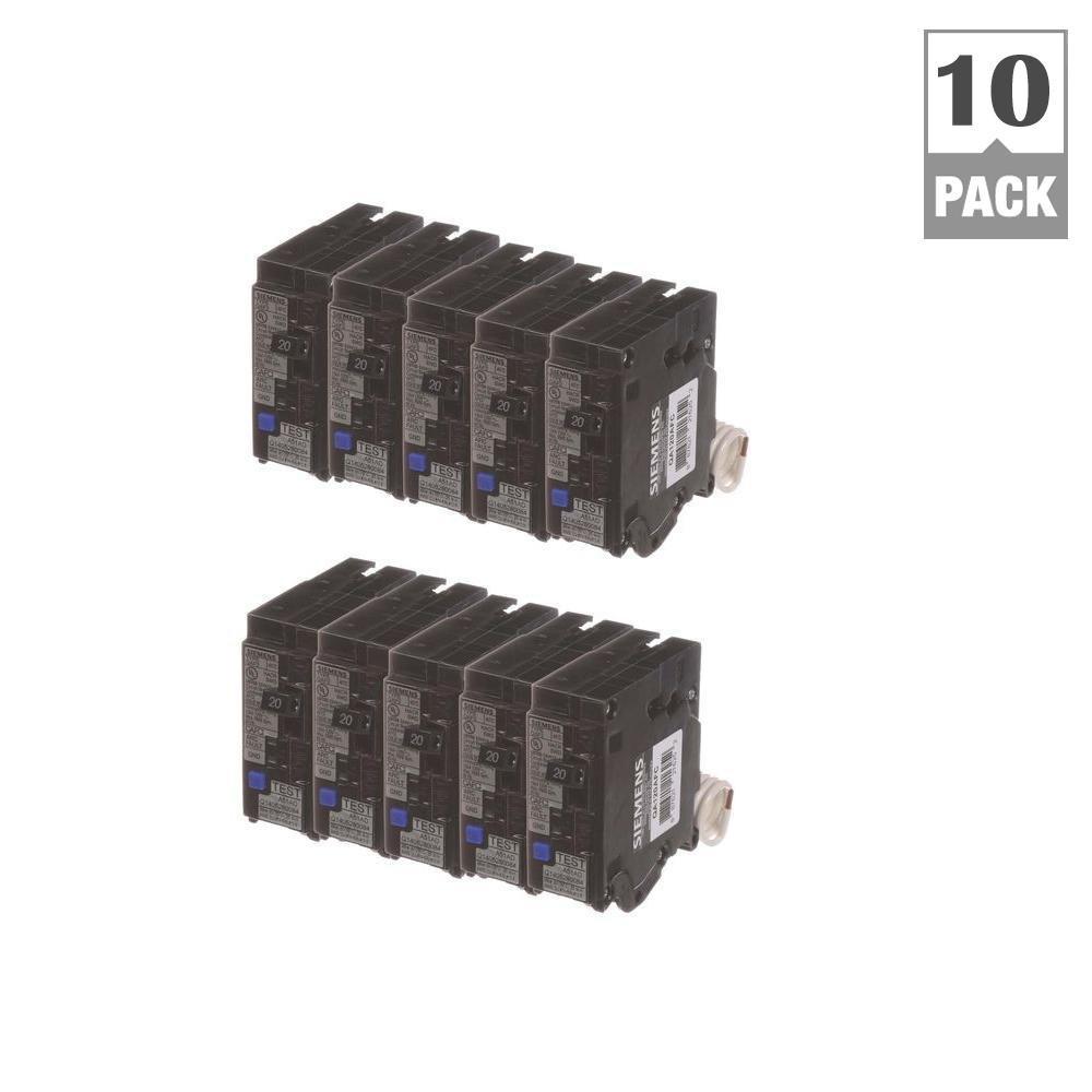 20 Amp Single Pole Combination AFCI Circuit Breakers (10 Pack)