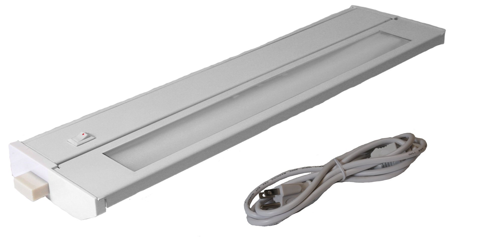 American Lighting 043T-14P-WH Hardwire Fluorescent Under Cabinet Lighting, 8-Watt Lamp with On/Off Switch, 120-Volt, White, 14-Inch