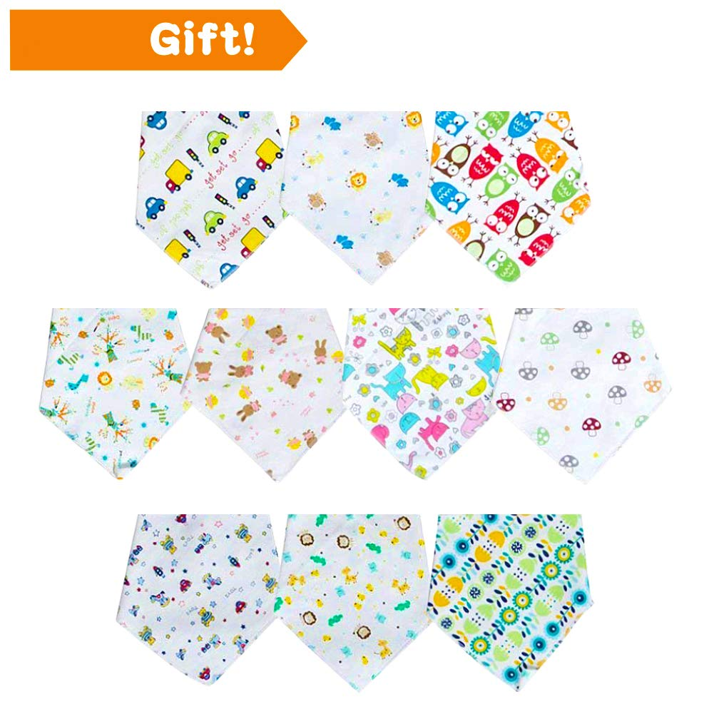 【New】Labebe 10-Pack Bandana Bib, 100% Cotton Drool Bib with 2-Sided Printed for ★ BOY, Comfortable Soft Bumkins Bib in ★ SUMMER for Baby, Baby Bib Boy/Bumkins Bib/Bandana Drool Bib/Boy/Bandana Bib Boy