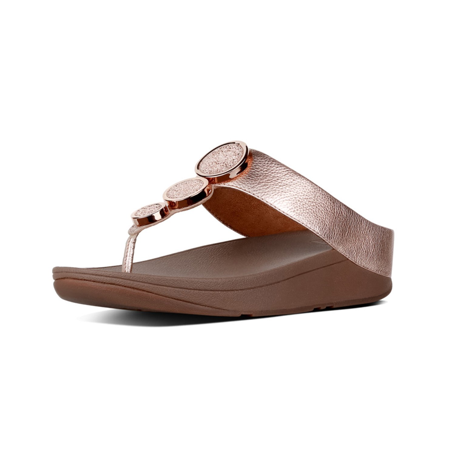 FitFlop Women's Halo Toe Thong Sandals Rose Gold 8