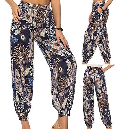 de Sport Ample Femme Harem Pants Pantalons Marine Casual Lache SANFASHION Imprim 40gqwYxP