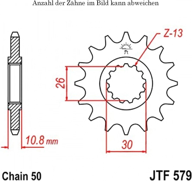 Ritzel 17 Z/ähne f/ür FZ1 1000 N Baujahr 2006-2015 von jtSprockets