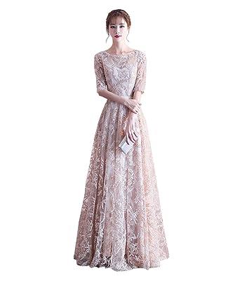 cc522dc1944de ロングドレス 袖あり 結婚式 ドレス ロング丈 カラードレス 花嫁 パーティードレス 二次会ドレス