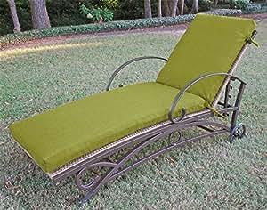 Al aire libre Patio Chaise Lounge cojín con tejido sólido (72en.–trigo)