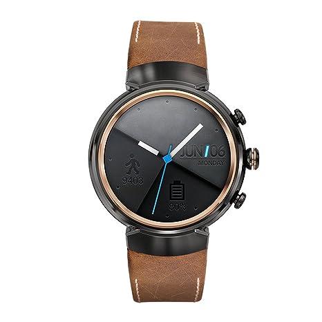 Kartice para Asus ZenWatch (3 bandas, Vintage Piel Auténtica Smart reloj banda correa Reemplazo