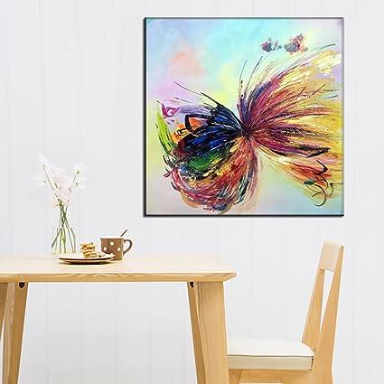 Amazon Com Osm Art Handmade Butterfly Animals Oil Painting On