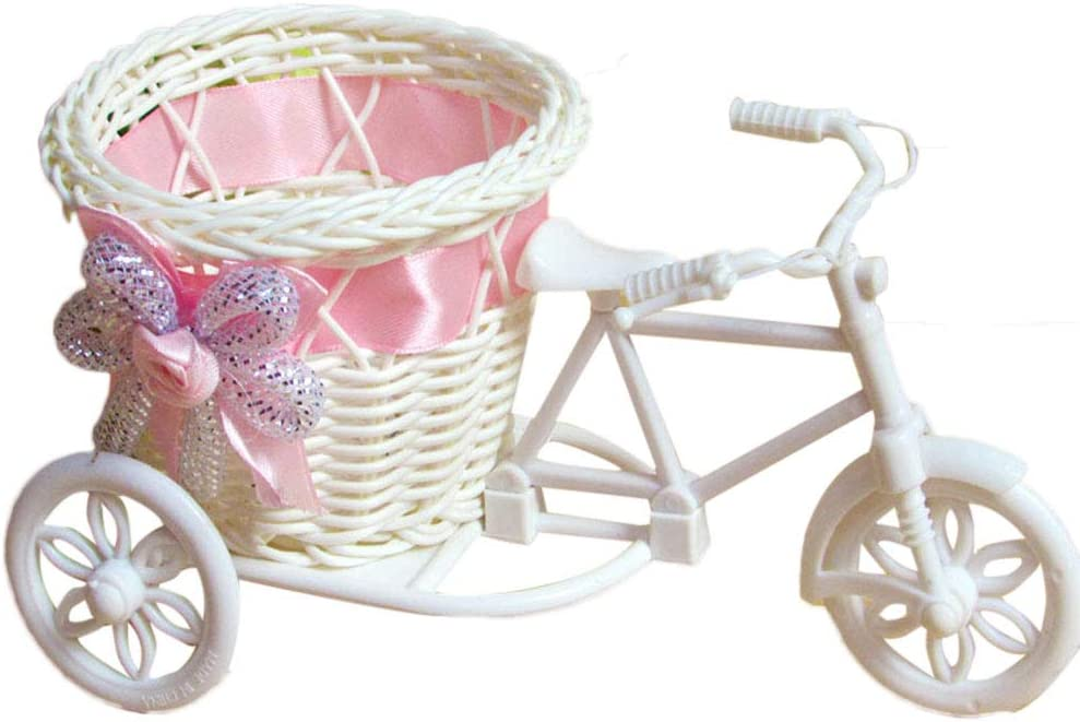 Size L9 X W6x H6 Inch Bicycle Basket for Juniors Bicycle Wicker Kid Bike Basket