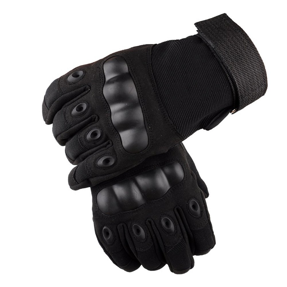 Men's/Women's Tactical Military Rubber for Cycling Motorcycle Hiking Camping Powersports Gloves Fbiannely