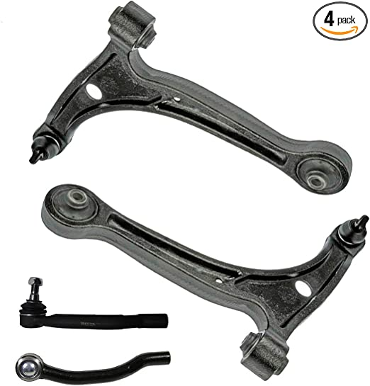 4pc Front Replacement Inner Outer Tie Rod End Links for 2001-2006 Acura MDX 2003-2008 Honda Pilot Detroit Axle