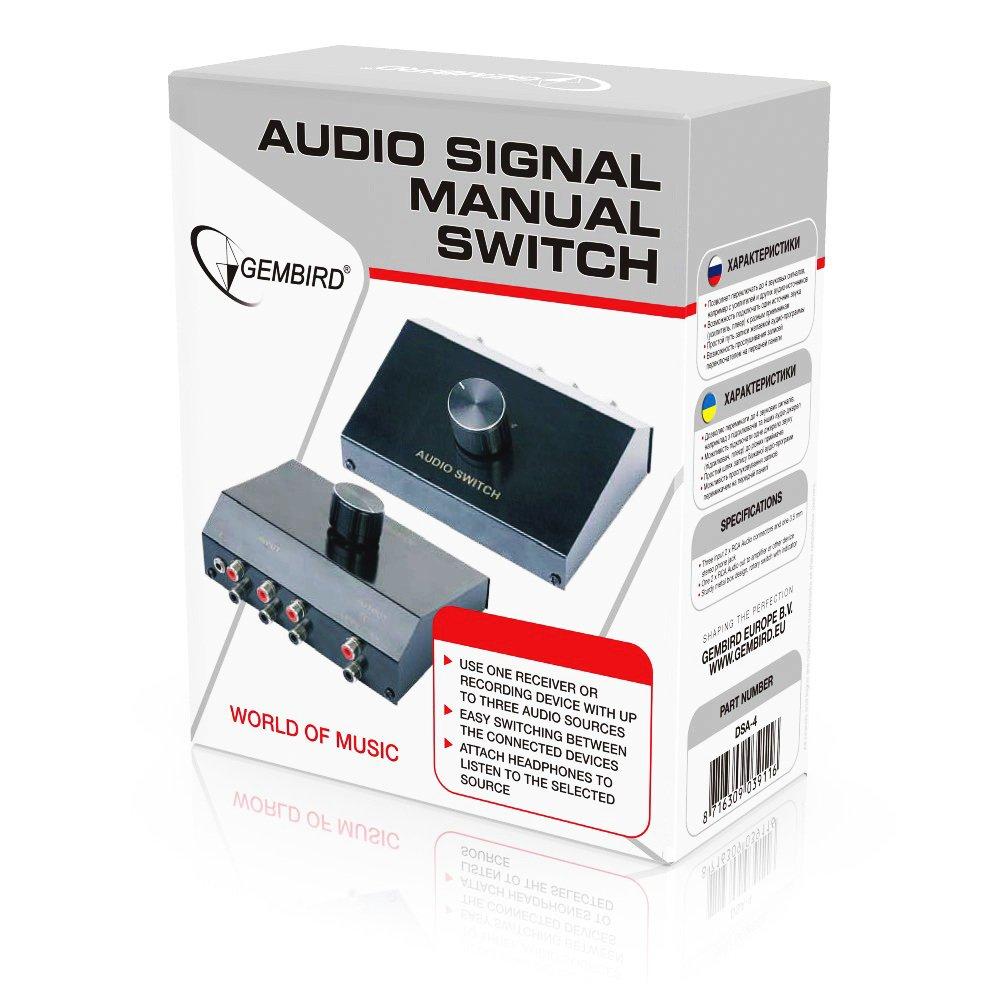 gembird manual 4 way audio switch box amazon co uk computers rh amazon co uk