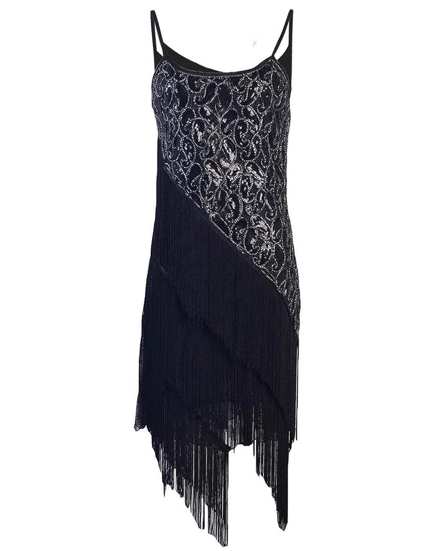 15090a5dbae KAYAMIYA Women s 1920S Sequin Paisley Pattern Tiered Tassel Gatsby Flapper  Dress delicate