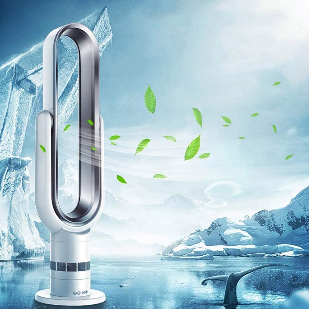 Condizionatore Portatile con Telecomando Ventilatore della Torre in Silenzio, con La Funzione Sleep Timer Funzionamento Silenzioso,Argento Silver
