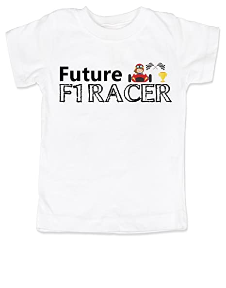 eba9309e Amazon.com: Vulgar Baby Future F1 Racer Toddler Shirt: Clothing