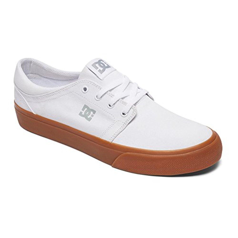 DC Men's Trase TX Unisex Skate Shoe B071CPT3J3 10.5D D US|White/Gum