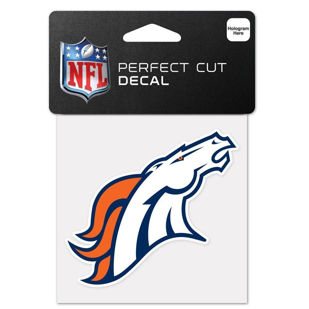 WinCraft NFL Denver Broncos 63044011 Perfect Cut Color Decal Black 4 x 4