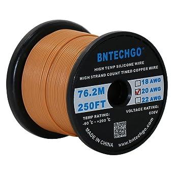 bntechgo® 20 Gauge Silikon Draht 250 Füße Weich und flexibel High ...