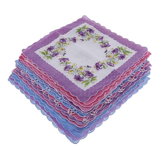 nuova collezione carino economico vari colori Sciarpa Quadrata Floreale Floreale Vintage Da 15 Pezzi: Amazon.it ...