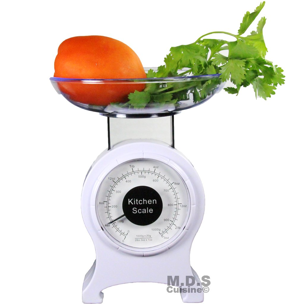 Kitchen Scale Retro Mechanical Dial 0-2lb Food Scale Diet Portable measuring scale by M.D.S Cuisine Cookwares