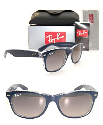 d20f8026f0 Image Unavailable. Image not available for. Color  Authentic Ray-Ban New Wayfarer  RB 2132 6053 M3 55MM Blue   Grey Gradient