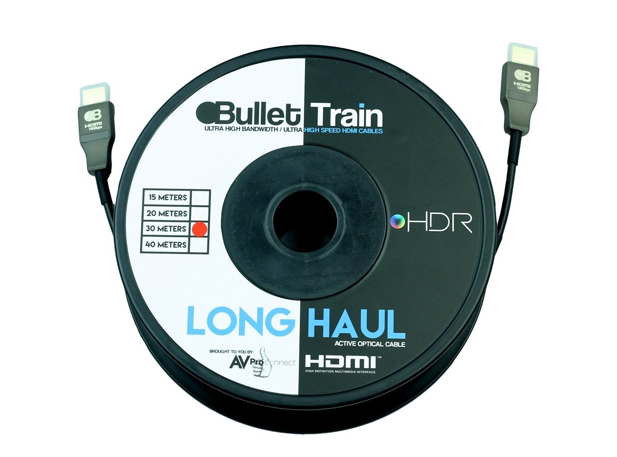 AVProconnect AC-BTAOC30-AUHD 30m/98.4ft Bullet Train (Long Haul Lengths) 18Gbps HDMI Cable