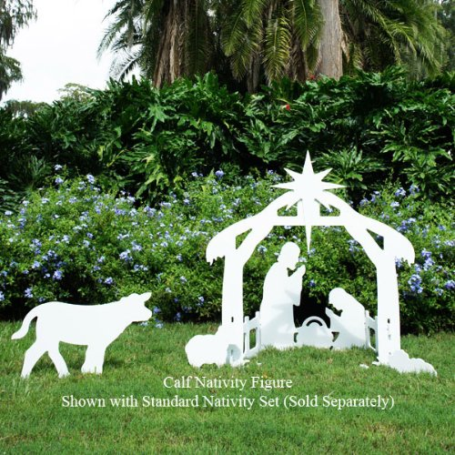 Teak Isle Christmas Outdoor Nativity Calf Figure